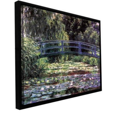 Brushstone The Japanese Footbridge  Giverny Gallery Wrapped Floater-Framed Canvas Wall Art