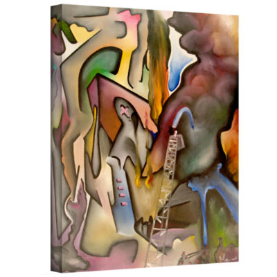Brushstone Tragedy In Florence Gallery Wrapped Canvas Wall Art