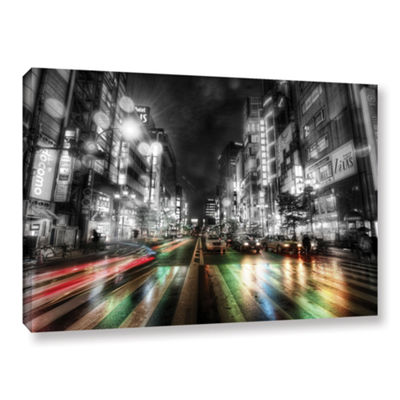 Brushstone Tokyo Night Gallery Wrapped Canvas WallArt