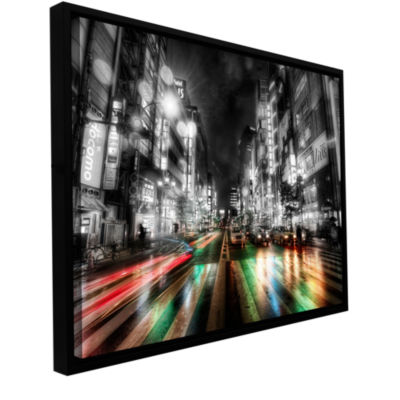 Brushstone Tokyo Night Gallery Wrapped Floater-Framed Canvas Wall Art