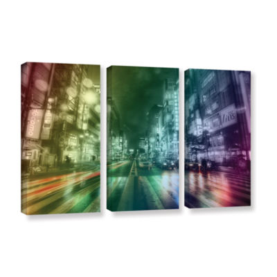Brushstone Tokyo Wrap 3-pc. Gallery Wrapped CanvasWall Art