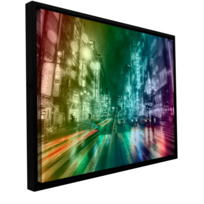 Brushstone Tokyo Wrap Gallery Wrapped Floater-Framed Canvas Wall Art