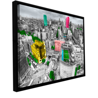 Brushstone Tokyo Skyline Gallery Wrapped Floater-Framed Canvas Wall Art