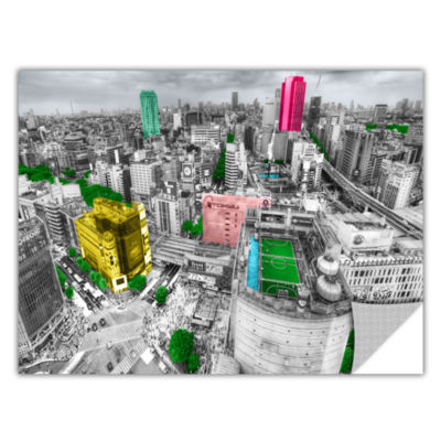 Brushstone Tokyo Skyline Removable Wall Decal