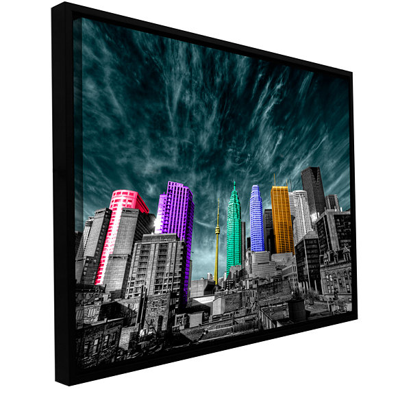 Brushstone Toronto Gallery Wrapped Floater-FramedCanvas Wall Art