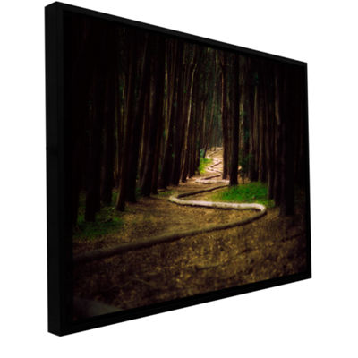 Brushstone Trees Gallery Wrapped Floater-Framed Canvas Wall Art
