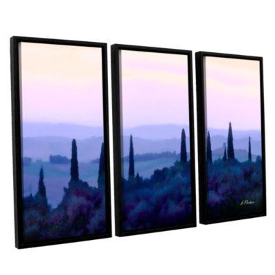 Brushstone Tuscan Morn 3-pc. Floater Framed Canvas Wall Art