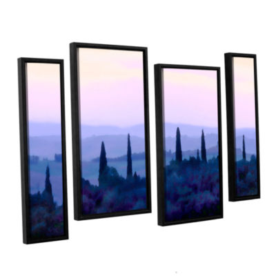 Brushstone Tuscan Morn 4-pc. Floater Framed Staggered Canvas Wall Art