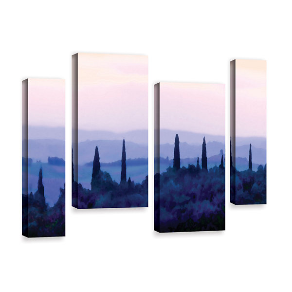 Brushstone Tuscan Morn 4-pc. Gallery Wrapped Staggered Canvas Wall Art