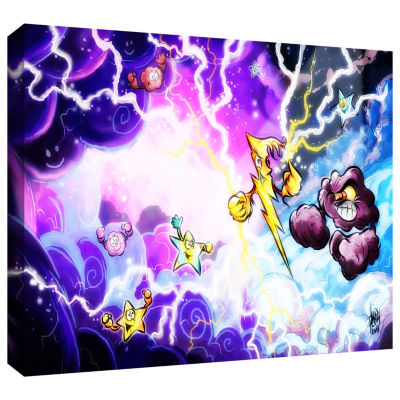 Brushstone Thunder Gallery Wrapped Canvas Wall Art