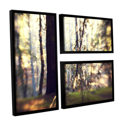 Brushstone Titan Of The Forest 3-pc. Flag Floater Framed Canvas Wall Art