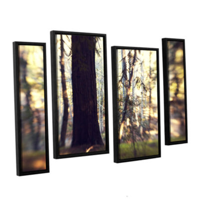 Brushstone Titan Of The Forest 4-pc. Floater Framed Staggered Canvas Wall Art