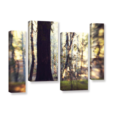 Brushstone Titan Of The Forest 4-pc. Gallery Wrapped Staggered Canvas Wall Art