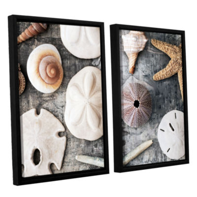 Brushstone Treasures From The Sea 2-pc. Floater Framed Canvas Wall Art