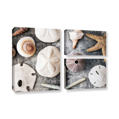 Brushstone Treasures From The Sea 3-pc. Flag Gallery Wrapped Canvas Wall Art