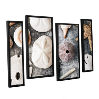 Brushstone Treasures From The Sea 4-pc. Floater Framed Staggered Canvas Wall Art