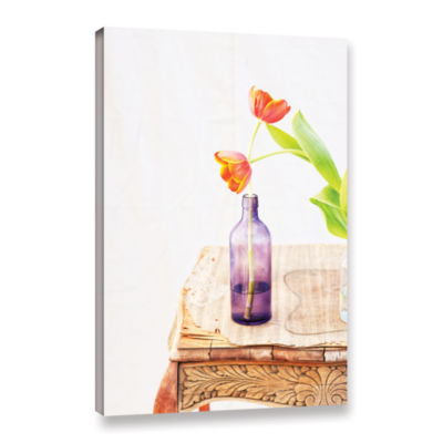 Brushstone Tulips by Elena Ray Gallery Wrapped Canvas Wall Art