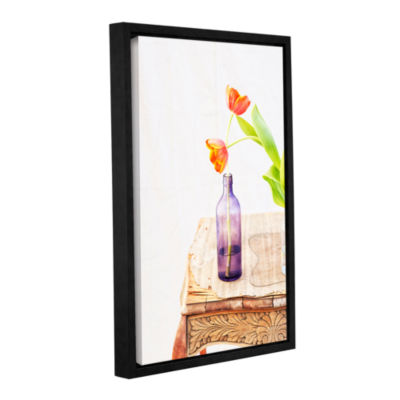 Brushstone Tulips by Elena Ray Gallery Wrapped Floater-Framed Canvas Wall Art