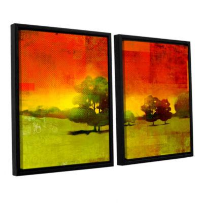 Brushstone Tree Study 2-pc. Floater Framed CanvasWall Art