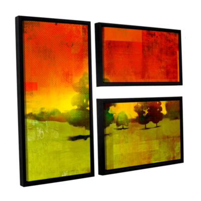 Brushstone Tree Study 3-pc. Flag Floater Framed Canvas Wall Art
