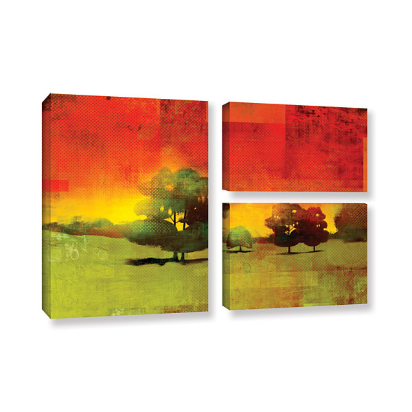 Brushstone Tree Study 3-pc. Flag Gallery Wrapped Canvas Wall Art