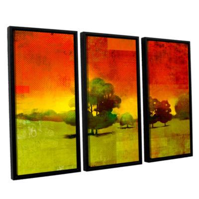 Brushstone Tree Study 3-pc. Floater Framed CanvasWall Art