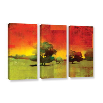 Brushstone Tree Study 3-pc. Gallery Wrapped CanvasWall Art