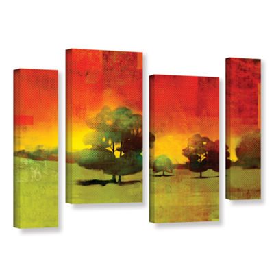 Brushstone Tree Study 4-pc. Gallery Wrapped Staggered Canvas Wall Art