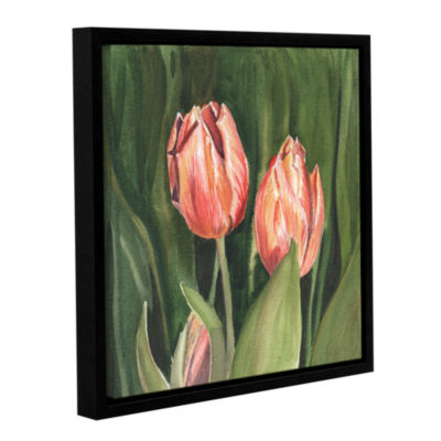 Brushstone Tulips Gallery Wrapped Floater-Framed Canvas Wall Art