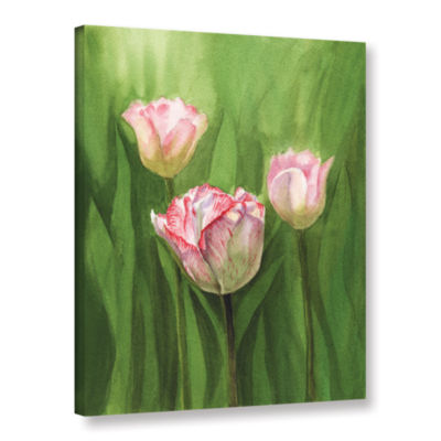 Brushstone Tulips In The Fog Gallery Wrapped Canvas Wall Art