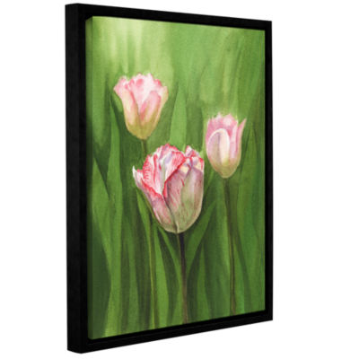 Brushstone Tulips In The Fog Gallery Wrapped Floater-Framed Canvas Wall Art