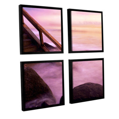 Brushstone To Somewhere 4-pc. Square Floater Framed Canvas Wall Art