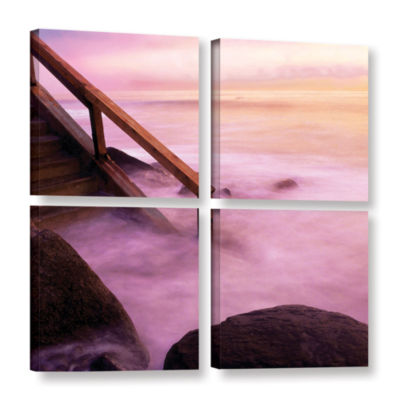 Brushstone To Somewhere 4-pc. Square Gallery Wrapped Canvas Wall Art