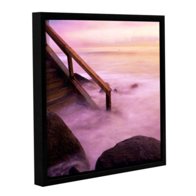 Brushstone To Somewhere Gallery Wrapped Floater-Framed Canvas Wall Art