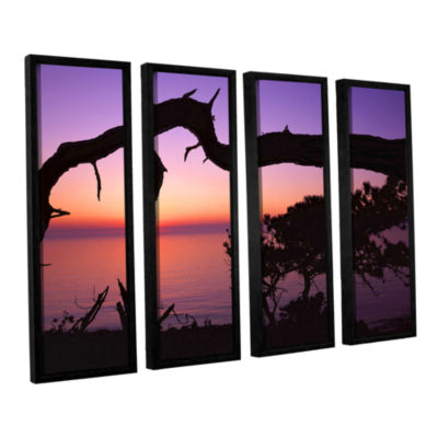 Brushstone Torrey Bridge 4-pc. Floater Framed Canvas Wall Art