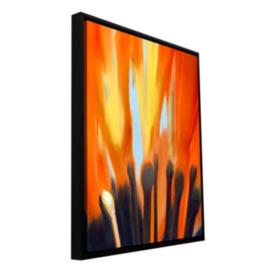Brushstone Towards The Light Gallery Wrapped Floater-Framed Canvas Wall Art