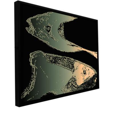 Brushstone Thonge Gallery Wrapped Floater-Framed Canvas Wall Art