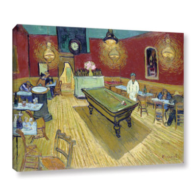 Brushstone The Night Café In The Place LamartineIn Aries Gallery Wrapped Canvas Wall Art