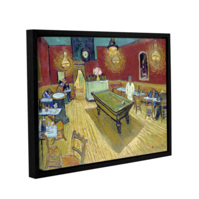 Brushstone The Night Café In The Place LamartineIn Aries Gallery Wrapped Floater-Framed Canvas Wall Art