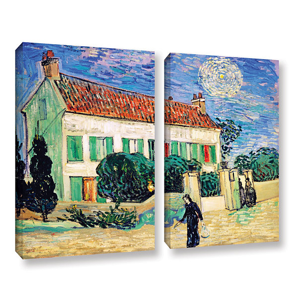Brushstone The White House At Night 2-pc. Gallery Wrapped Canvas Wall Art