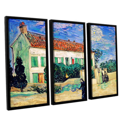 Brushstone The White House At Night 3-pc. Floater Framed Canvas Wall Art