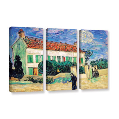 Brushstone The White House At Night 3-pc. Gallery Wrapped Canvas Wall Art