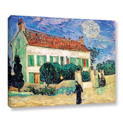 Brushstone The White House At Night Gallery Wrapped Canvas Wall Art