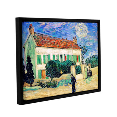 Brushstone The White House At Night Gallery Wrapped Floater-Framed Canvas Wall Art