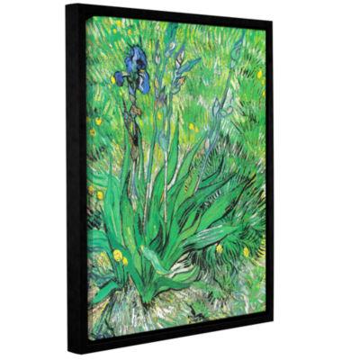 Brushstone The Iris Gallery Wrapped Floater-FramedCanvas Wall Art
