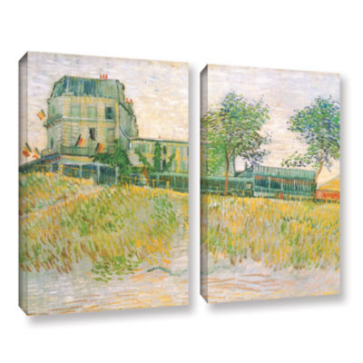 Brushstone The Restaurant De La Sirene  Asnieres 2-pc. Gallery Wrapped Canvas Wall Art