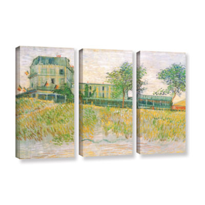 Brushstone The Restaurant De La Sirene  Asnieres 3-pc. Gallery Wrapped Canvas Wall Art