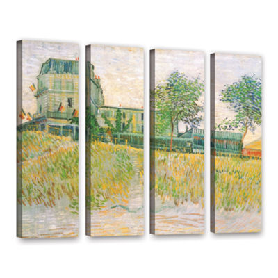 Brushstone The Restaurant De La Sirene  Asnieres 4-pc. Gallery Wrapped Canvas Wall Art