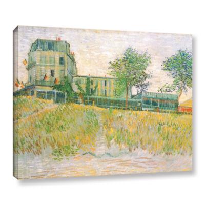 Brushstone The Restaurant De La Sirene  Asnieres Gallery Wrapped Canvas Wall Art