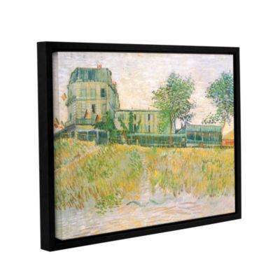 Brushstone The Restaurant De La Sirene  Asnieres Gallery Wrapped Floater-Framed Canvas Wall Art
